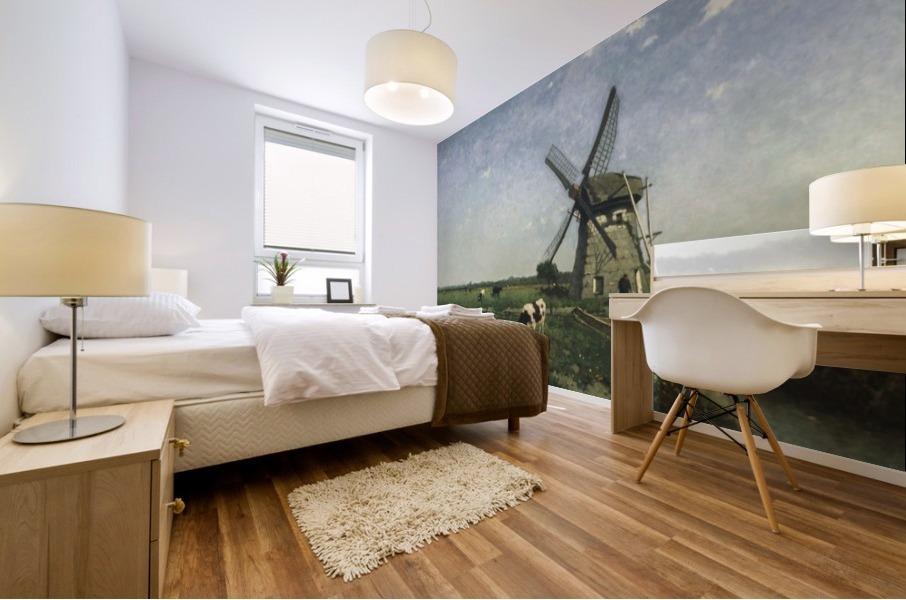 Landscape with Windmill near Schiedam Mural print