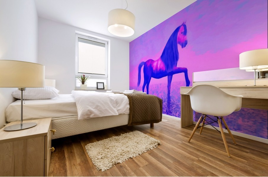 lonely horse Mural print