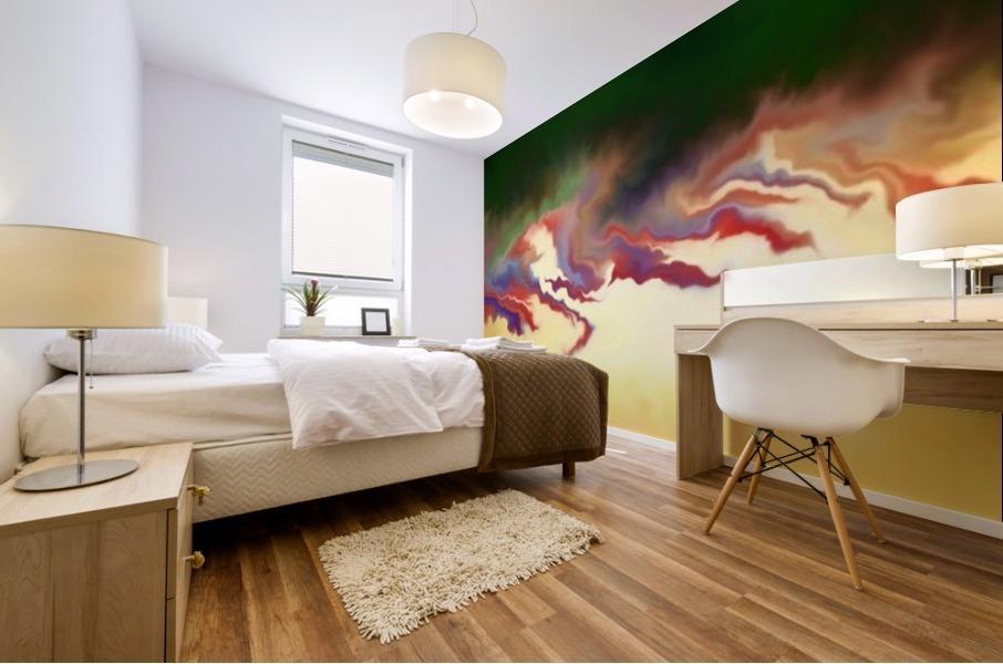 Obadiani V1 - digital abstract Mural print