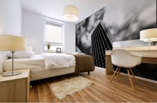 Black and white tower Mural print