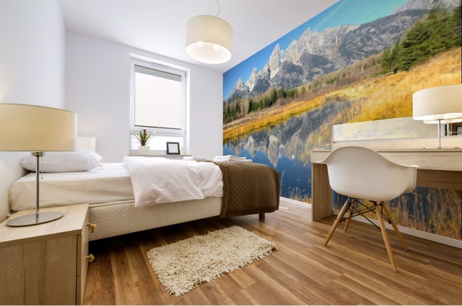 Beavers View of Tetons Mural print
