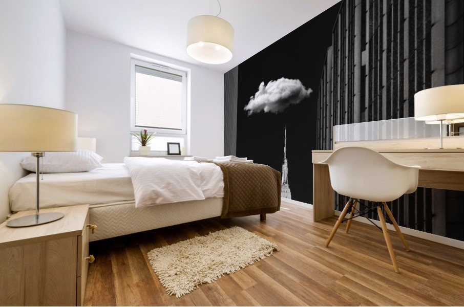 Single Cloud Mural print