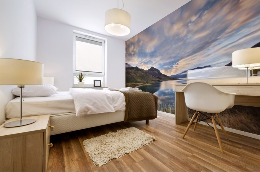 Morning Delight at Lake Hawea Mural print