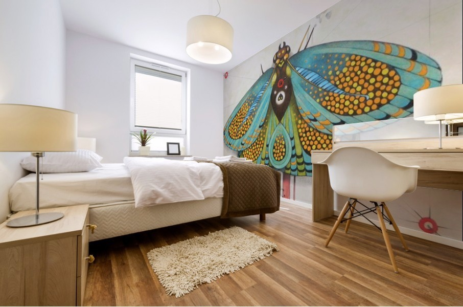 psychedelic butterfly Mural print