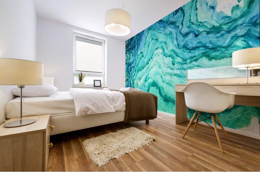 Ocean Floor Mural print