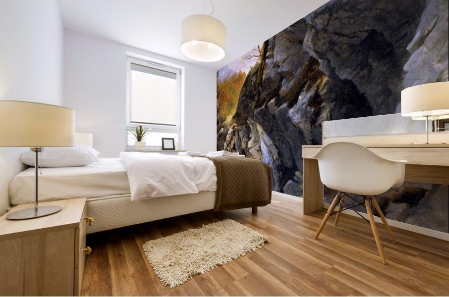 Landscape with cliffs Mural print