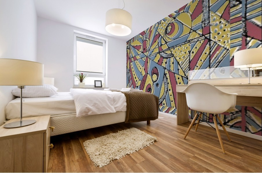 Multicolor Abstract Mural print