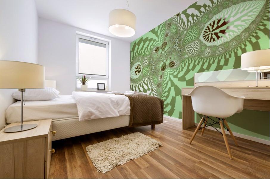 Green Abstract Mural print