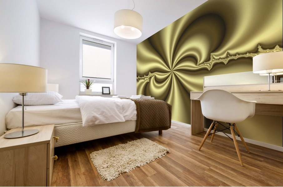 Gold Abstract Mural print