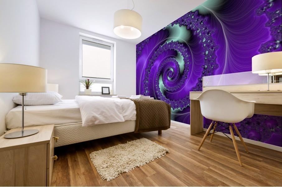 Purple Vortex Mural print