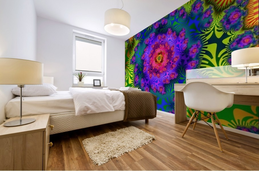 Vivid Abstract Image Mural print