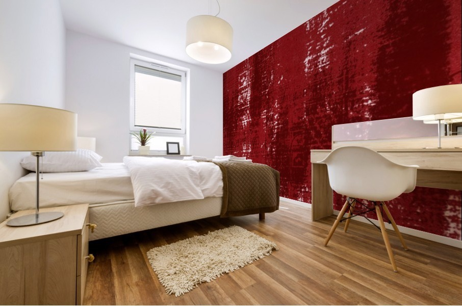 Red Texture Mural print