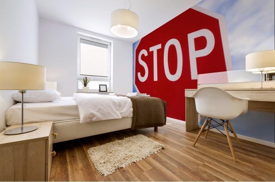 Stop Sign; Ireland Mural print