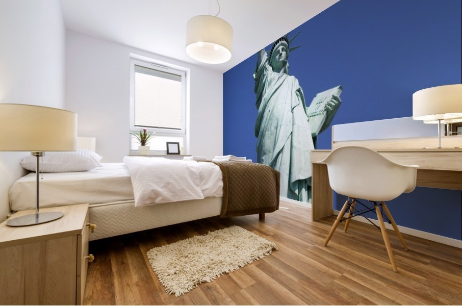 Statue Of Liberty, Lower Manhattan, New York City, New York, Usa Mural print