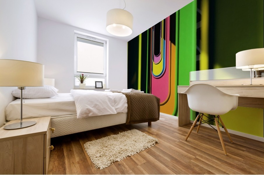 Looking Through Colorful Ovals Mural print