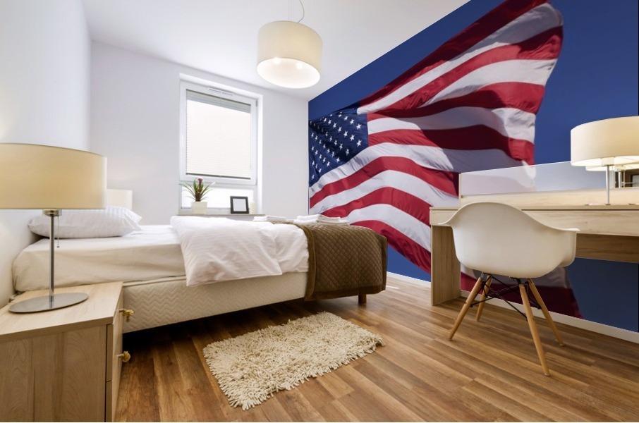 American Flag; Pahreah, Utah, United States of America Mural print