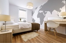 World Map Grey Style Mural print