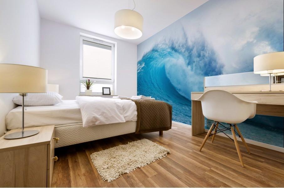 Beautiful Blue Ocean Wave Mural print