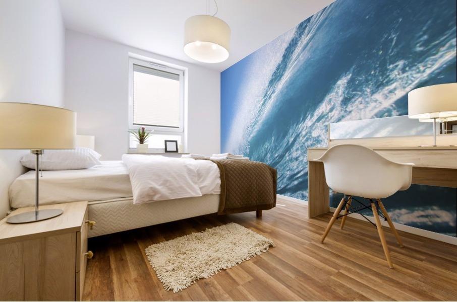 Blue Ocean Wave Mural print
