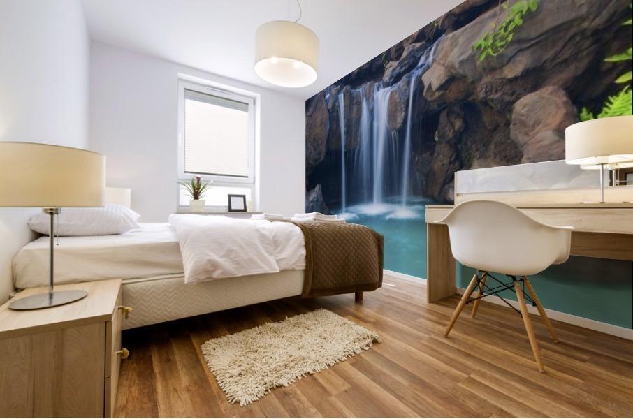 Waterfall into Resort Pool Mural print