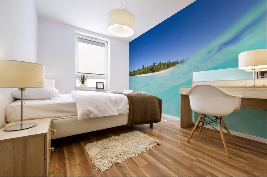 Tropical Island, Blue Sky and Beautiful Ocean Mural print