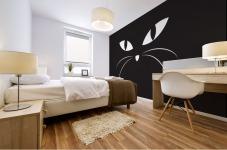 BLACK CAT Mural print