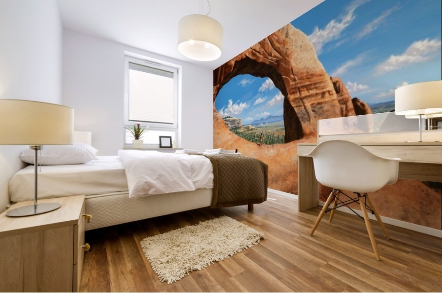 Discoverers of Wilson Arch Mural print