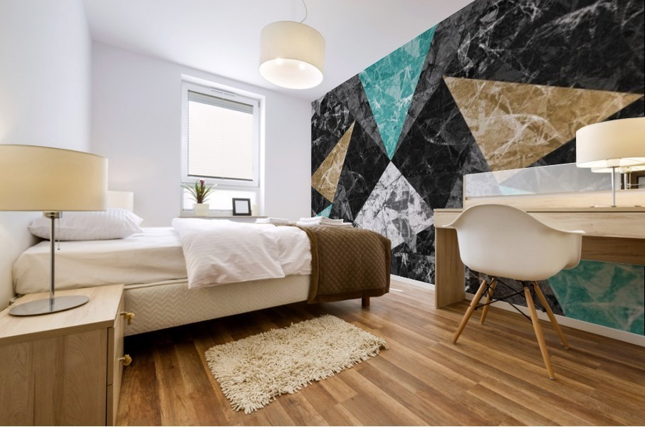 Marble Geometric Background G430 Mural print