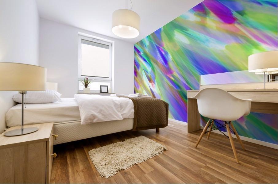 Colorful digital art splashing G401 Mural print