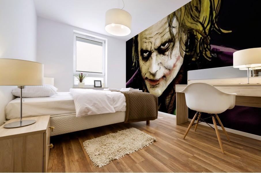 The Joker Says Mural print