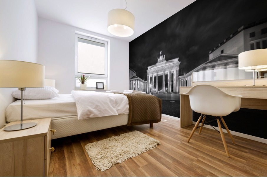 BERLIN Brandenburg Gate | Monochrome Mural print