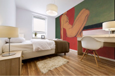 Nude in a Red Armchair by Felix Vallotton Mural print