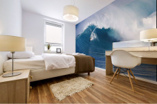Hawaii, Maui, Peahi (Jaws), Surfer Rides A Giant Wave Mural print
