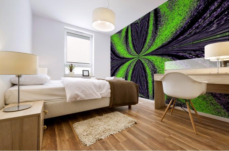Green Butterfly 3 Mural print