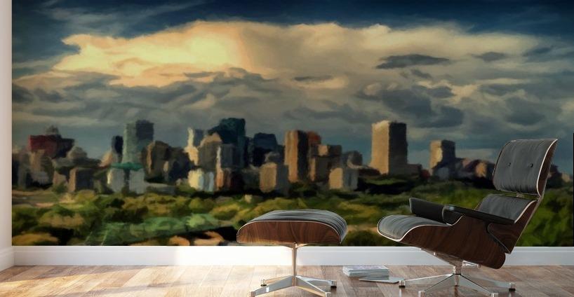 Edmonton Alberta Canada Skyline David Dehner Canvas Artwork