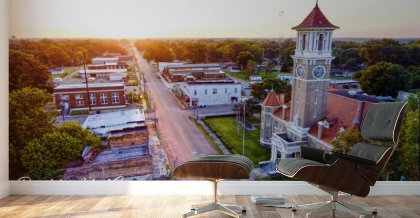 Clarendon AR | Monroe County Courthouse - Provision UAS - Canvas Artwork