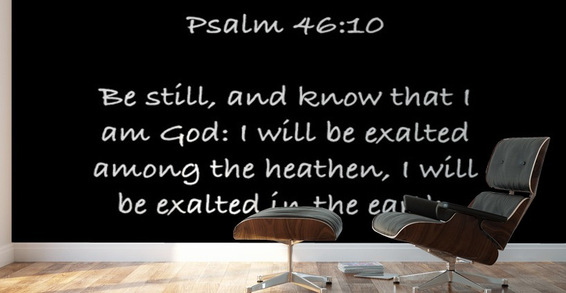 Psalm 46 10 3bw Scripture On The Walls Canvas