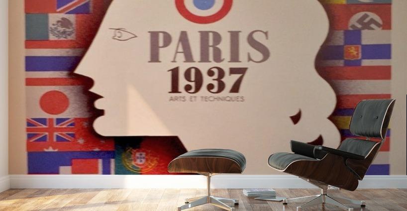 Art deco period international exposition in paris 1937 poster wall murals