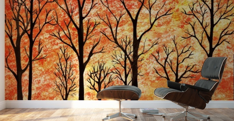 Autumn Forest Abstract Irina Sztukowski Canvas