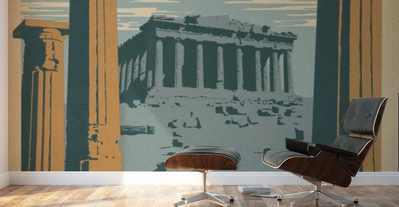 Athens Greece vintage poster VINTAGE POSTER Canvas