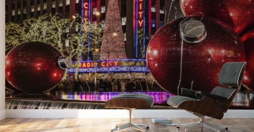 christmas decorations near radio city music hall new york new york united states - New Christmas Decorations