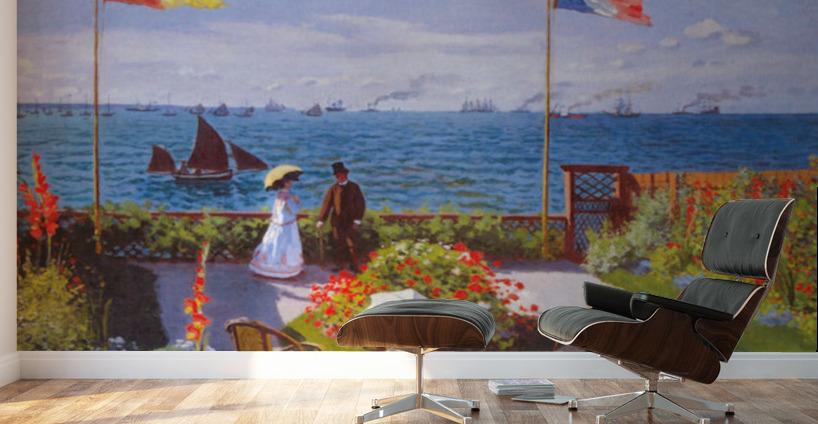 Claude Monet Garden At Sainte Adresse Canvas