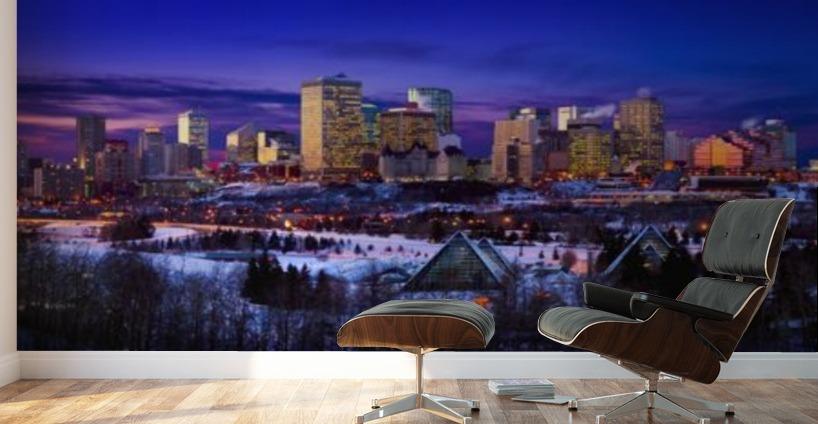 Edmonton Winter Skyline Pacificstock Canvas Artwork