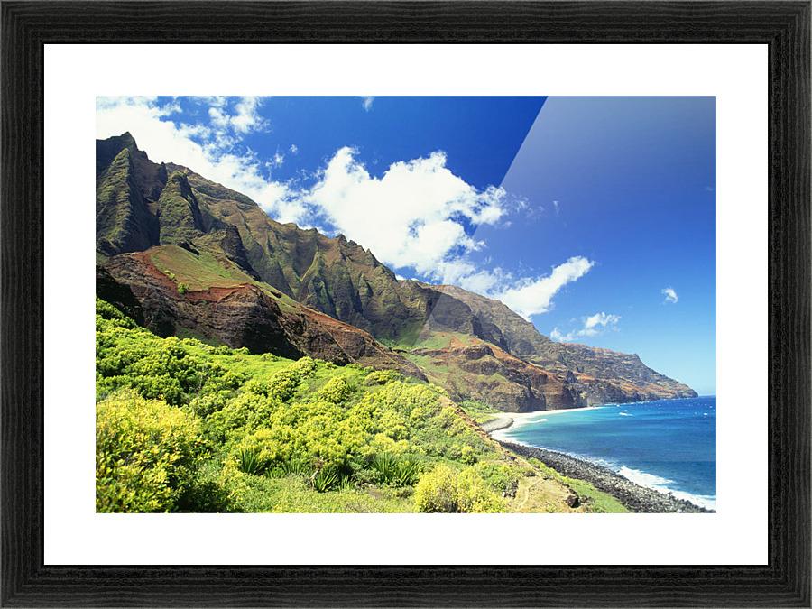 Hawaii Kauai Napali Coast Kalalau Valley Secluded