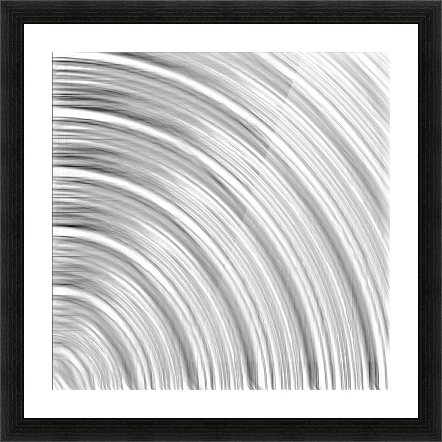 Pencil drawing line pattern abstract in black and white picture frame printing
