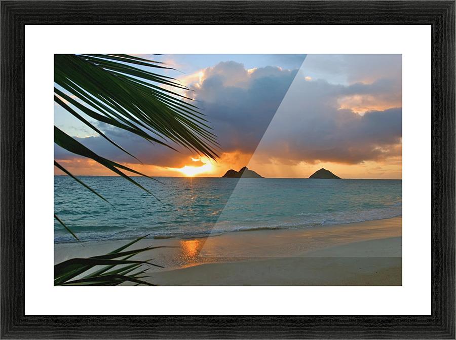 Hawaii Oahu Dramatic Sunrise At Lanikai Beach Mokulua Islands