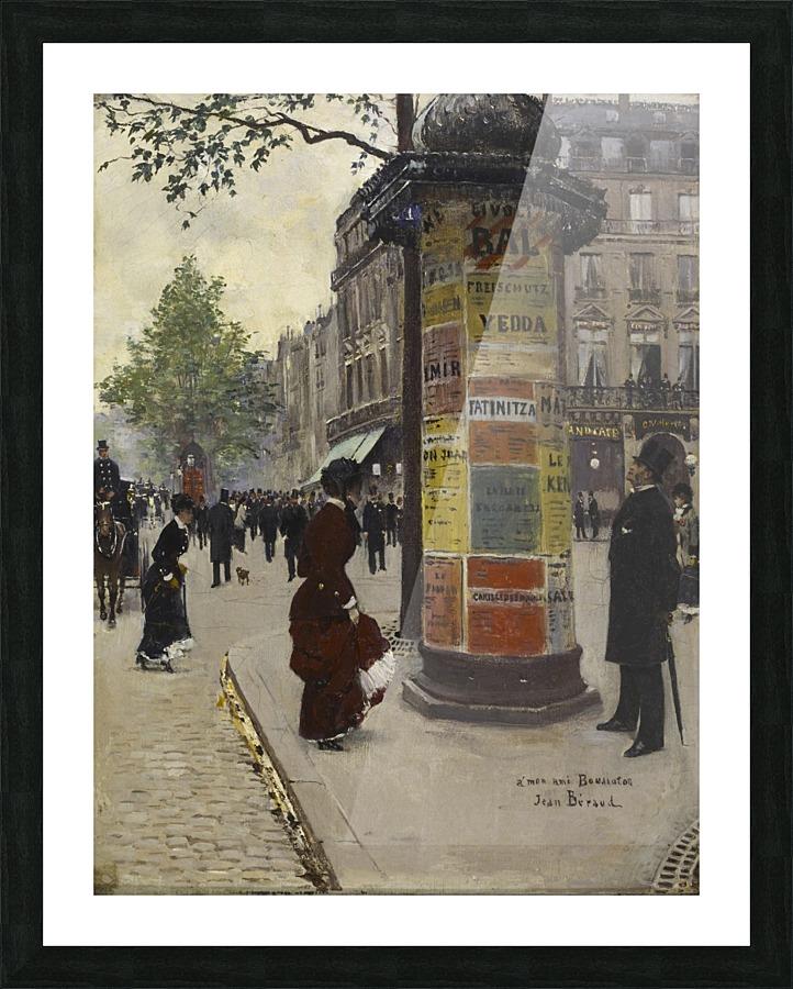 Paris Kiosk - Jean Beraud Canvas