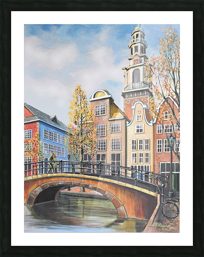 Leaning Clock Tower, Amsterdam - Donald C Presnell Canvas