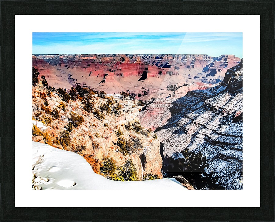 Desert At Grand Canyon National Park Usa In Winter With Snow And