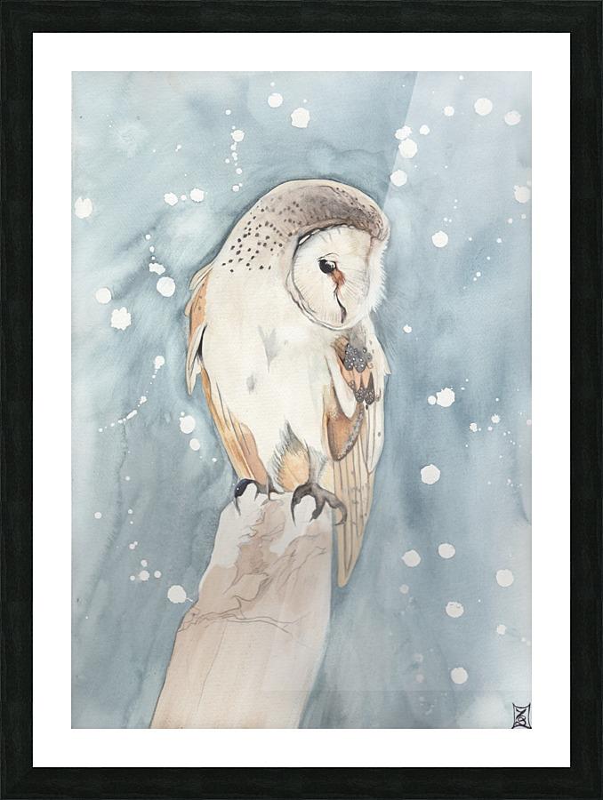 All Souls Owl - Watercolour Soul Canvas